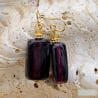 blueberry murano glass jewelry earrings