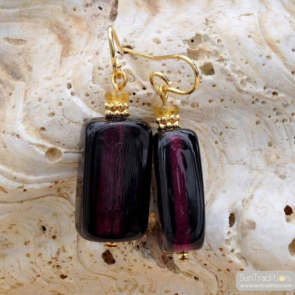 blueberry murano glass jewelry earrings
