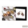 SSCOGLIO SATIN COLA EARRINGS GENUINE MURANO GLASS VENICE