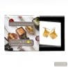 SCOGLIO SATIN GOLD EARRINGS GENUINE VENICE MURANO GLASS