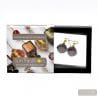 SCOGLIO SATIN AMETHYST EARRINGS GENUINE VENICE MURANO GLASS