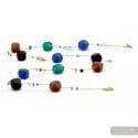 Scoglio opera long - Long blue and green murano glass necklace true italian jewel of Venice