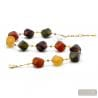 Gold and brown Murano glass necklace