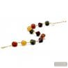 Gold and brown Murano glass necklace true jewellery of venice Italy