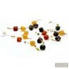 GOLD LONG NECKLACE JEWELRY SET GENUINE MURANO GLASS