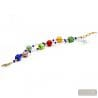red beads bracelet - Red Murano glass bracelet genuine jewel from Venice Italy