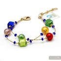 Penelope red - Red Murano glass bracelet genuine jewel from Venice Italy