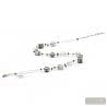 silver beads necklace - Silver Murano glass necklace real venitian jewellery of Italy