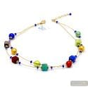 Penelope red - Red and gold Murano glass necklace real venitian jewel of Italy