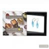 BLUE MURANO GLASS EARRINGS OLIVER
