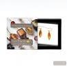 AMBER MURANO GLASS EARRINGS OLIVER