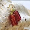 strawberry murano glass jewelry earrings