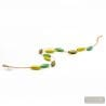 green and gold collar - Green and gold Murano glass necklace of Italy