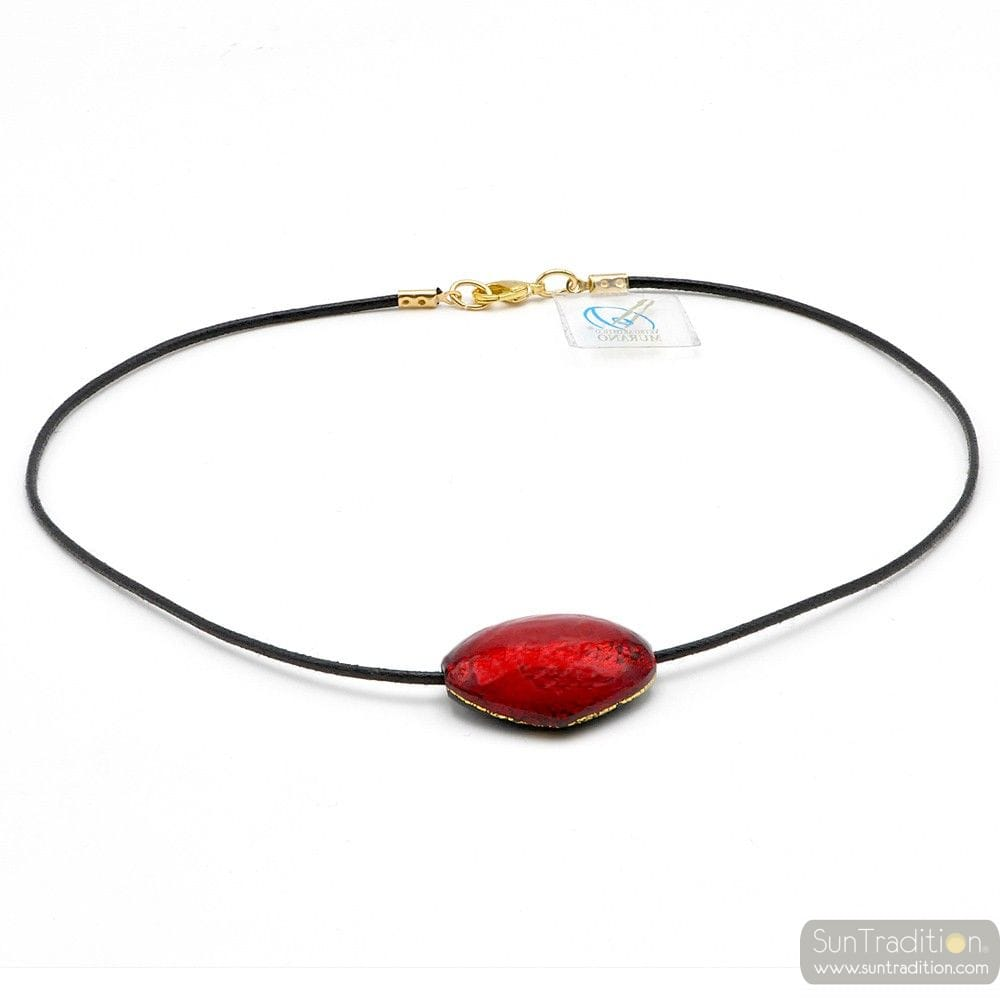 TRIANGOLO RED - PENDANT RED MURANO GLASS VENICE