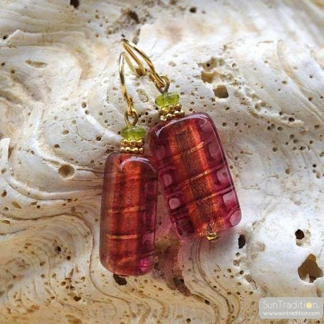 STRAWBERRY MURANO GLASS EARRINGS