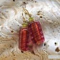 4 SEASONS STRAWBERRY EARRINGS GENUINE MURANO GLASS