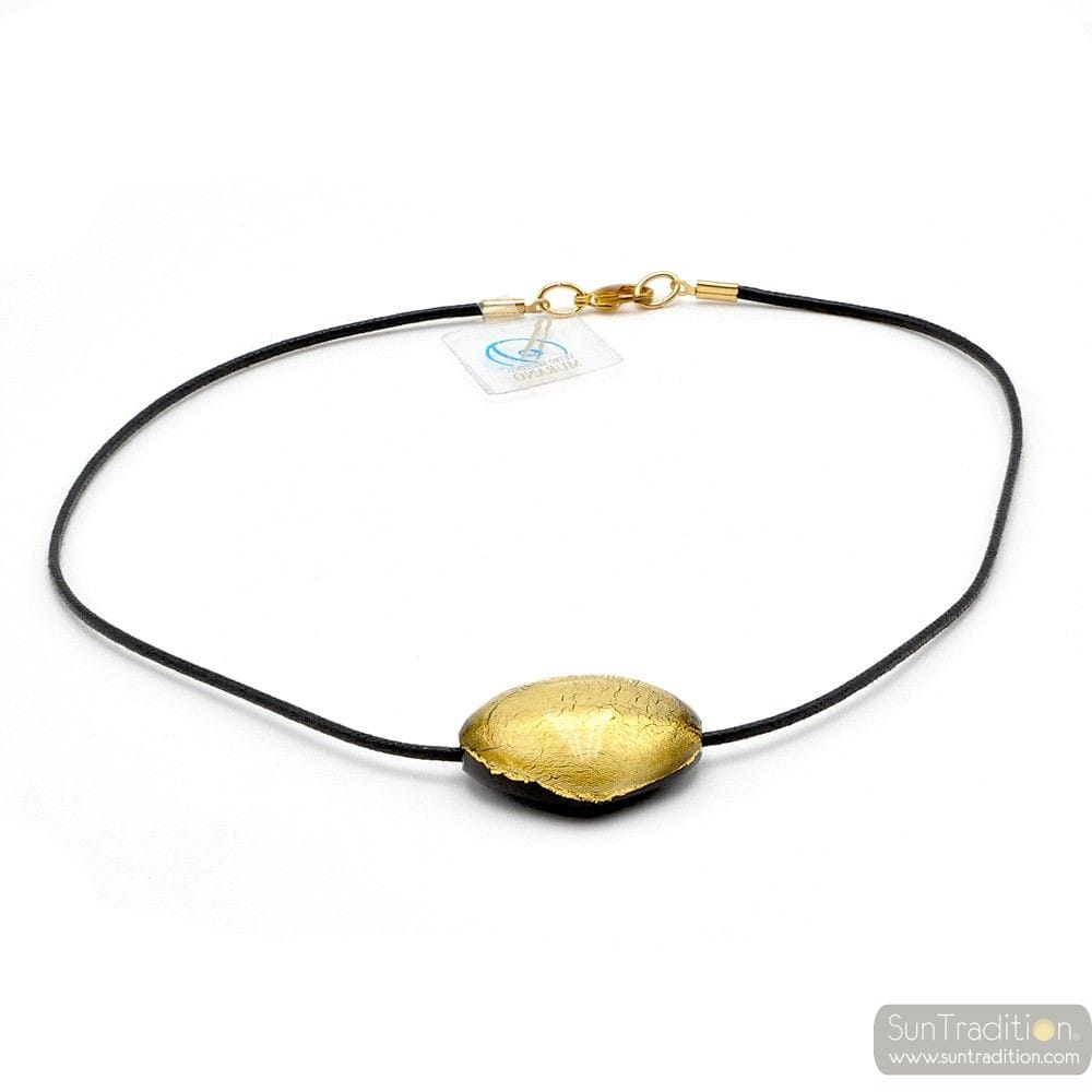 TRIANGOLO GOLD - GOLD MURANO GLASS PENDANT