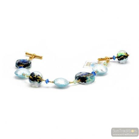 BLUE MURANO GLASS BRACELET