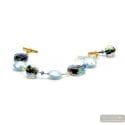 Blue moonlight - Blue genuine Murano glass bracelet