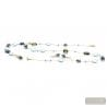 MOONLIGHT - BLUE JEWELRY SET IN REAL VENICE MURANO GLASS