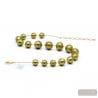 Ball khaki green - Khaki green ball Murano glass beads jewel from venice Italy