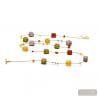 Amber and gold Murano glass necklace genuine venitian jewellery from Italy