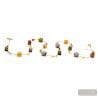 Amber and gold Murano glass necklace jewellry from Italy