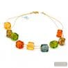 Multicolor Murano glass necklace genuine jewel from Venice Italy