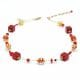 MIX RED - RED GOLD MURANO GLASS NECKLACE GENUINE MURANO GLASS