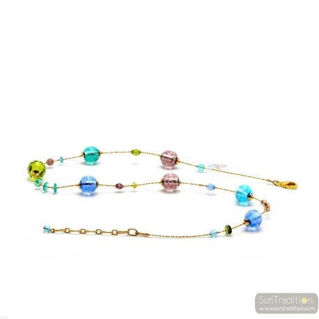 BLUE GENUINE MURANO GLASS NECKLACE FROM VENICE