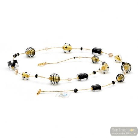 LONG GOLD MURANO GLASS NECKLACE
