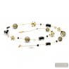Jo-jo gold and black long - long gold and black Murano glass collar real venitian jewel from Italy