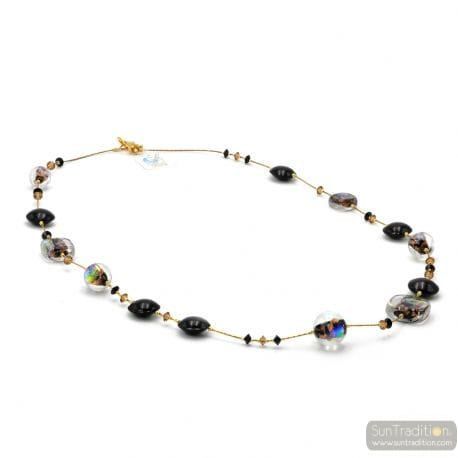 BLACK MURANO GLASS NECKLACE