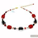 Schissa red - Red Murano glass necklace genuine jewel of Venice Italy