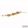 Albatross Amber - Amber Genuine Murano glass bracelet