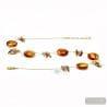 AMBER NECKLACE - AMBER NECKLACE GENUINE MURANO GLASS OF VENICE ALBATROSS