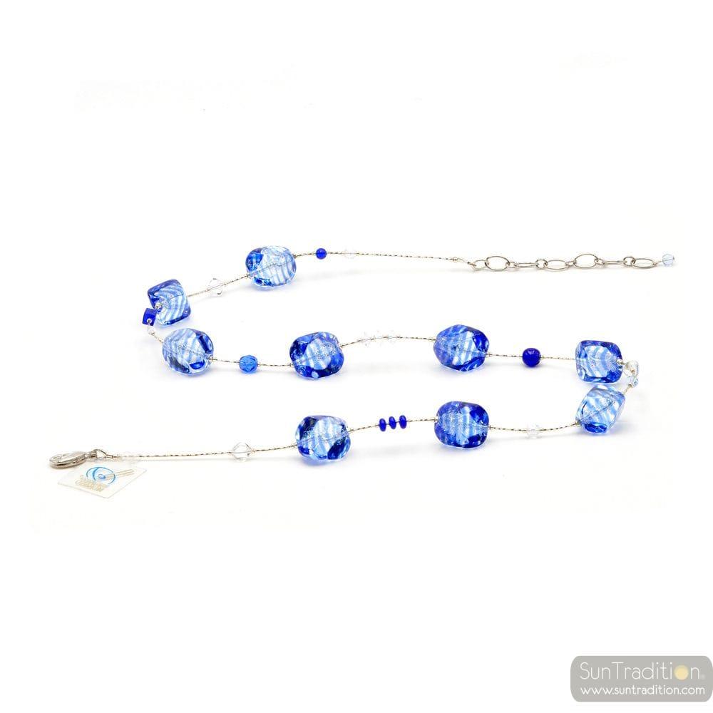 BLUE COLLAR IN GENUINE MURANO GLASS VENICE