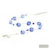 Blue Murano glass necklace of Venice Italy