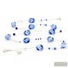 Sasso rigadin blue long - long blue Murano glass necklace real jewel of Venice Italy