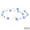 long blue Murano necklace real jewel of Venice Italy