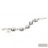 Genuine silver Murano glass bracelet Venice