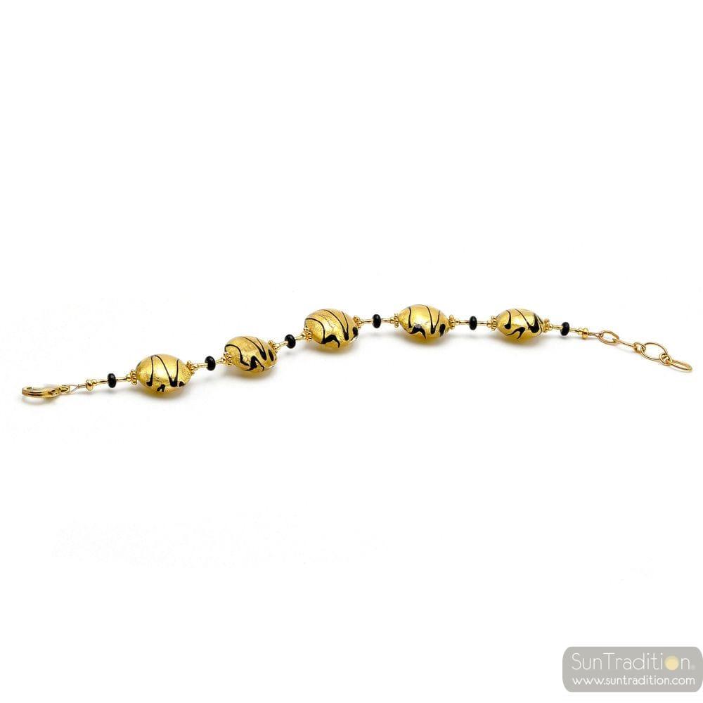 gold Murano glass bracelet Venice