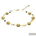Charly gold - Gold Murano glass pearls necklace venitian jewel from Italy