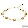 GOLD NECKLACE - GOLD NECKLACE GENUINE MURANO VENICE GLASS