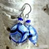 BLUE EARRINGS GENUINE VENICE MURANO GLASS
