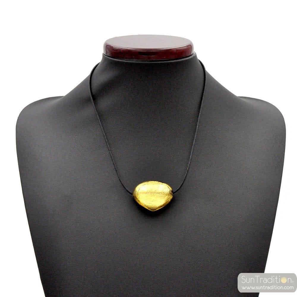 TRIANGOLO GOLD - GOLD MURANO GLASS PENDANT