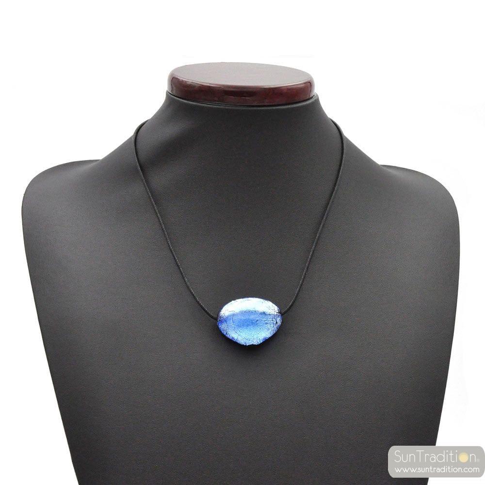 TRIANGOLO BLUE - PENDANT BLUE MURANO GLASS VENICE