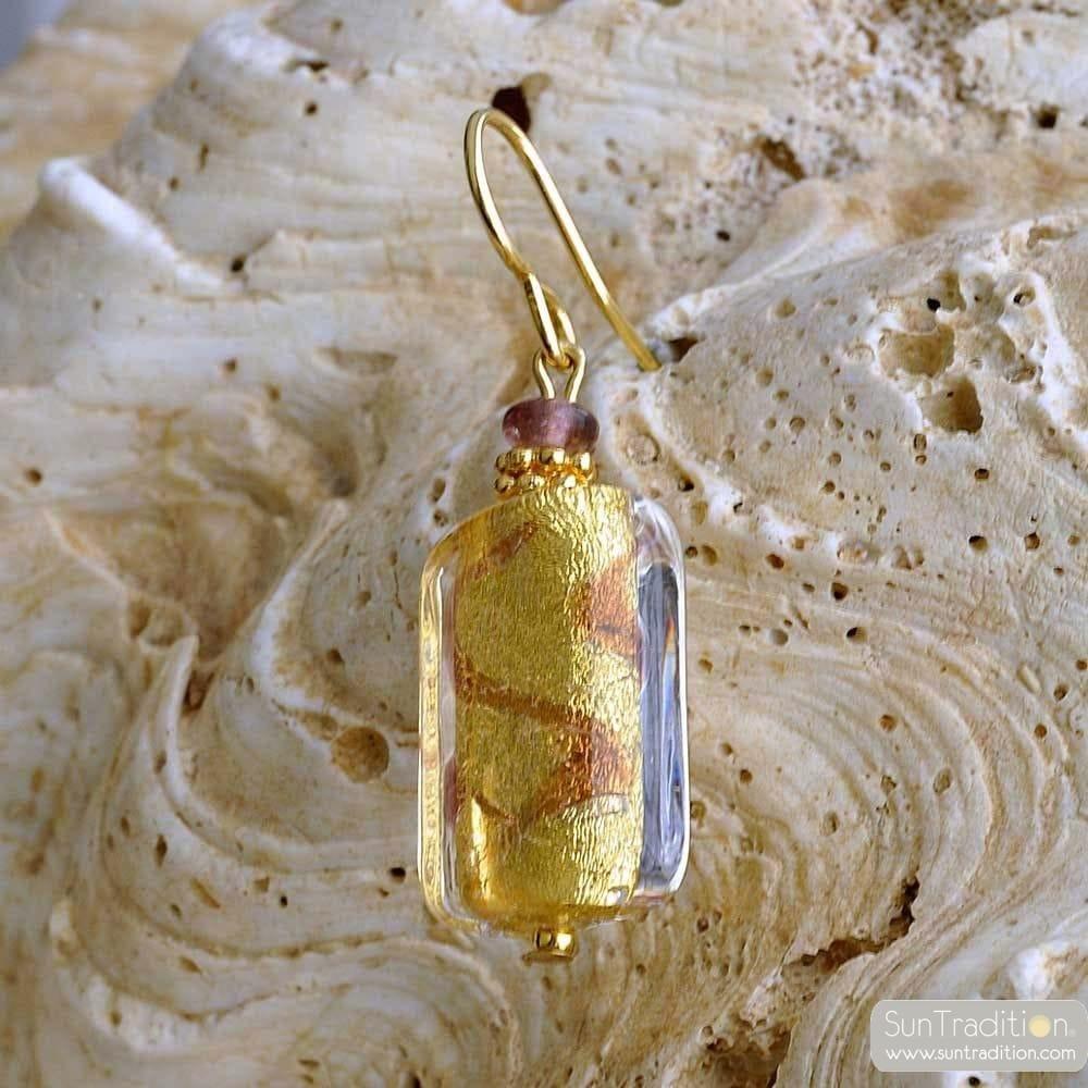 CHOCOLATE MURANO GLASS EARRINGS