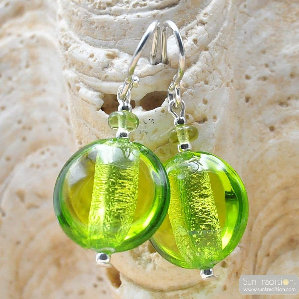 PASTIGLIA ACID PICCOLI GREEN - APPLE GREEN EARRINGS MURANO GLASS