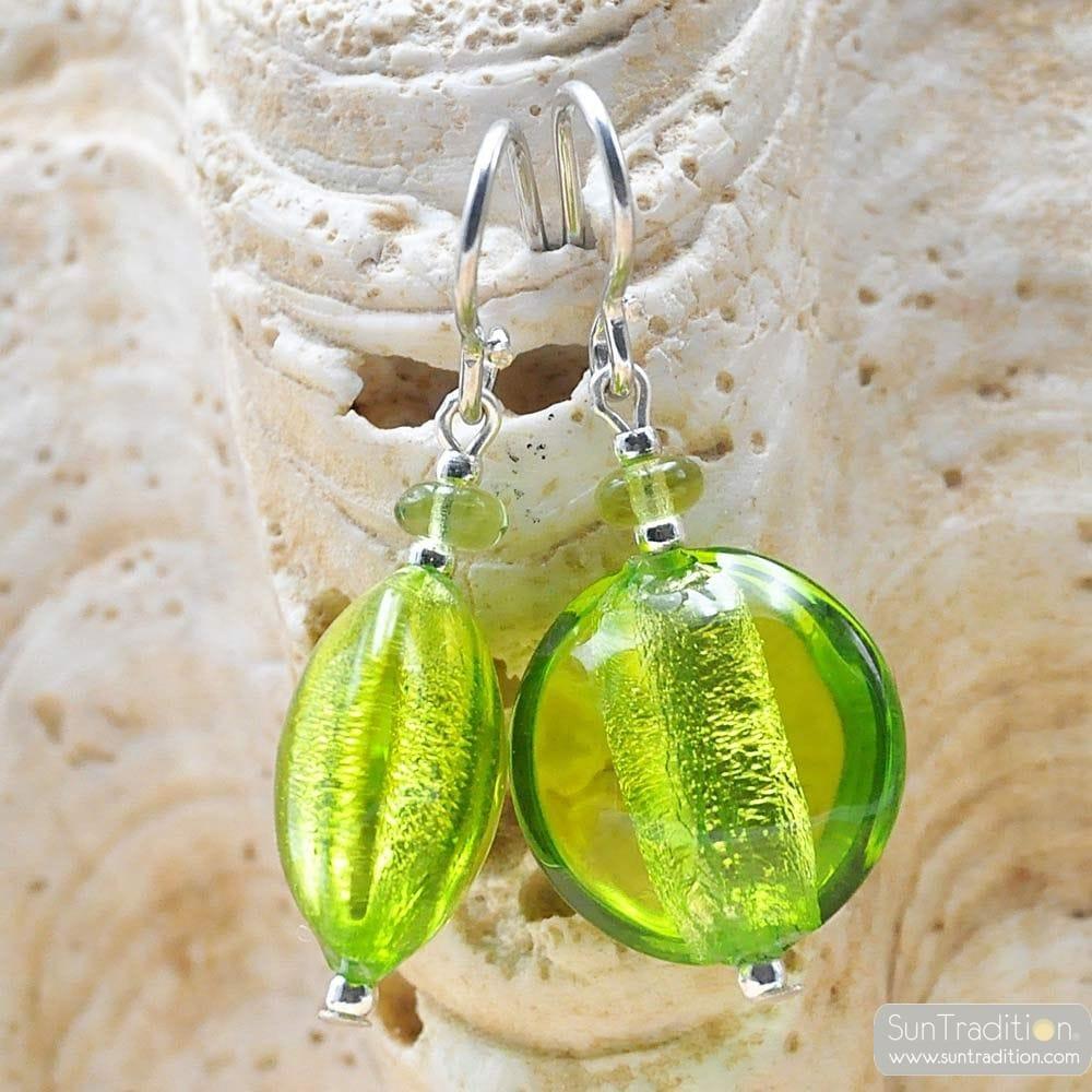 PASTIGLIA ACID PICCOLI - earrings APPLE GREEN MURANO GLASS